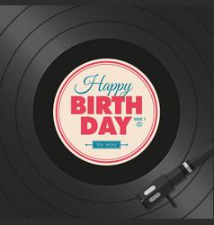 vinyl-birthday vector image vector image