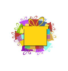 gift box holiday background vector image