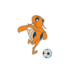 hermit soccer crab vector image vector image
