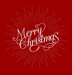 Merry christmas calligraphic design vector