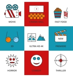 Stock Linear icon movie vector image