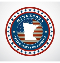 Vintage label Minnesota vector image vector image