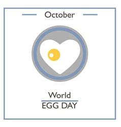 World Egg Day vector image