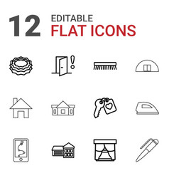 12 house icons vector