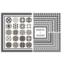 20 geometric patterns and 15 pattern vector image
