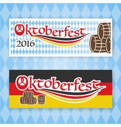 2016 Oktoberfest banner set vector