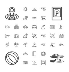 37 tourism icons vector