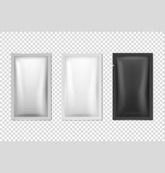 3d realistic foil white black long slim vector