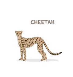 A cartoon cheetah isolated vector