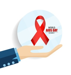 AIDS Awareness red ribbon World AIDS Day 1st vector