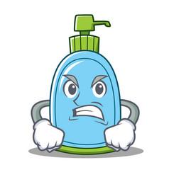 Angry liquid soap character cartoon vector