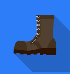 Army combat boots icon in flat style isolated on vector