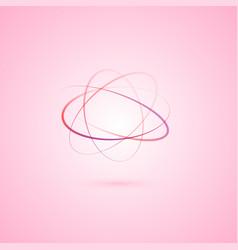 Atom logo design vector