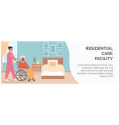 banner for retirement home residential care vector image