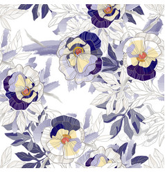 Beautiful vintage seamless pattern background vector