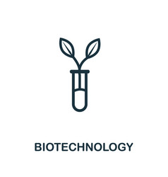Biotechnology icon simple line element outline vector