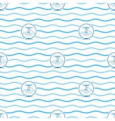 Blue Lighthouse Seamless Pattern vector