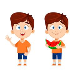 boy cartoon character cute funny child vector image