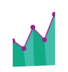 Business graph going up vector image