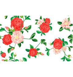 camellia pattern cartoon style vector image