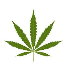 cannabis leaf icon green silhouette indica sativa vector image