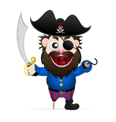 Cartoon funny pirate vector