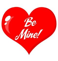 Cartoon valentines heart vector image