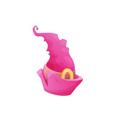 cartoon witch hat icon pink magician cap vector image