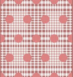 check and polka dot fashion seamless pattern vector image