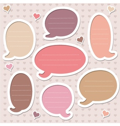 Collection of pink frames vector image