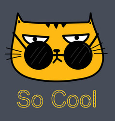 Cool cat with sunglasses vector