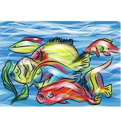 Coral fish vector