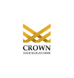creative crown logo design template vector image