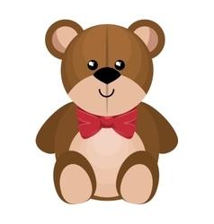 Cute bear teddy isolated icon vector
