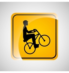 cyclist person sign sport extreme design vector image