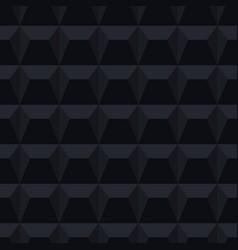 Dark seamless tile geometric texture black 3d vector