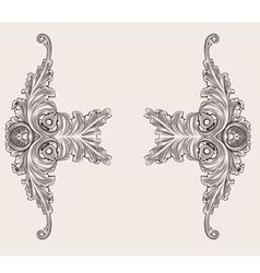 Decor floral ornaments vector