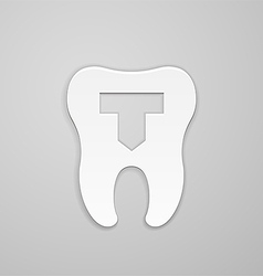 Dental emblem vector