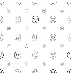 Depression icons pattern seamless white background vector
