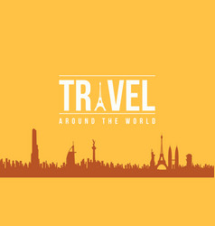 Design graphic travel and holiday background vector
