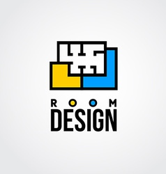 design room logo vector image