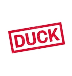 Duck rubber stamp vector