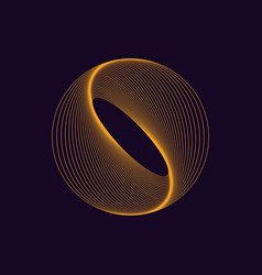 dynamic circle shape abstract modern graphic vector image