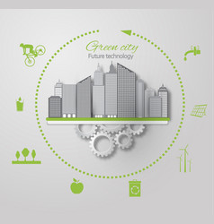 eco concept green city vector image