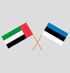 Estonian and uae flags vector