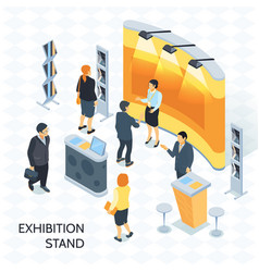Exhibition stand isometric vector