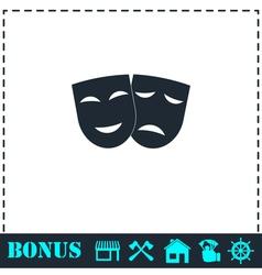 Festive masks icon flat vector