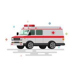 flat ambulance vector image