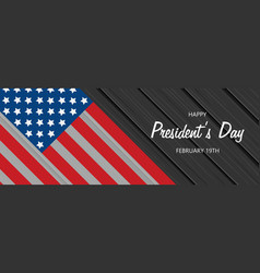 flat presidents day vector image