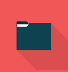 folder icon set of great flat icons with style vector image